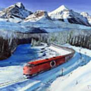 Canadian At Morant's Curve Art Print