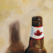 Canadian Beer Art Print
