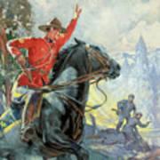 Canadian Mounties Art Print