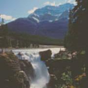 Canadian Rockies Cascade Art Print