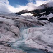 Canadian Rockies Glacier Art Print