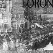 Canadian Wwi Nostalgic Collage Art Print