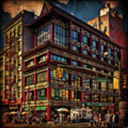 Canal And Center Streets New York City Art Print