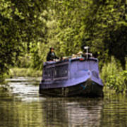 Canal Boat Art Print