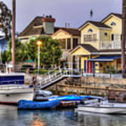 Canal Houses And Boats Art Print