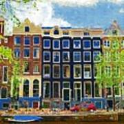 Canal Houses Art Print