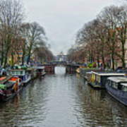 Canal In Amsterdam Art Print
