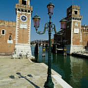 Canal Leading Into The Arsenale Art Print