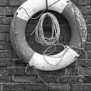 Canal Lifesaver Art Print