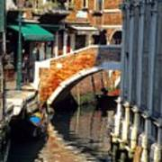 Canal Next To Church Of The Miracoli In Venice Art Print