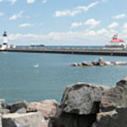 Canal Park In Duluth  Art Print