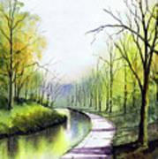 Canal Sowerby Bridge Art Print