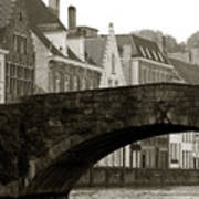 Canal View Of Bruges Art Print