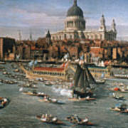 Canaletto: Thames, 18th C Art Print by Granger