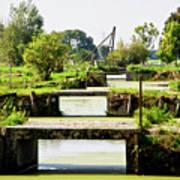 Canals And Bridges Art Print
