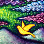 Canary Escapes Coalmine Art Print