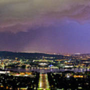 Canberra Stormy Night Art Print