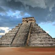 Cancun Mexico - Chichen Itza - Temple Of Kukulcan-el Castillo Pyramid 3  Art Print
