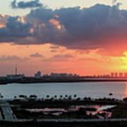 Cancun Mexico - Sunrise Over Cancun Art Print