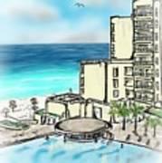 Cancun Royal Sands Art Print