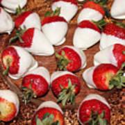 Candied Strawberries Art Print
