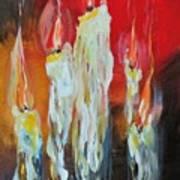 Candle Dance  Art Print