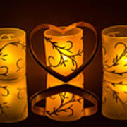 Candlelight Love Art Print