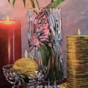 Candlelit Lupins Art Print