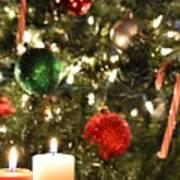 Candles For Christmas 2 Art Print