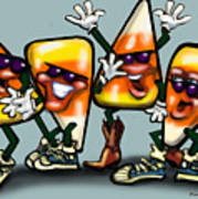 Candy Corn Gang Art Print