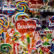 Candy Stand - La Bouqueria - Barcelona Spain Art Print