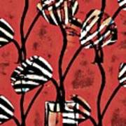 Candy Stripe Tulips 2 Art Print