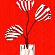 Candy Stripe Tulips Art Print