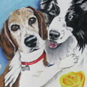 Canine Friends Art Print