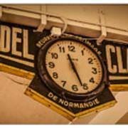 Cannes - Market Clock  Art Print