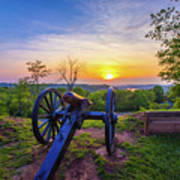 Cannon At Sunset Art Print