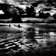 Cannon Beach At Dusk Art Print