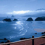 Blue Waters On Cannon Beach Art Print