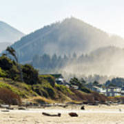 Cannon Beach Oceanfront Vacation Homes Art Print