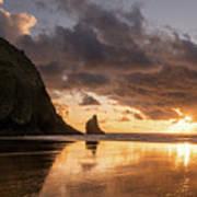 Cannon Beach Sunset Art Print