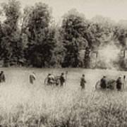 Cannon Fire At Gettysburg  Art Print