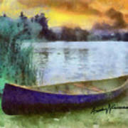 Canoe Art Print by Anthony Caruso