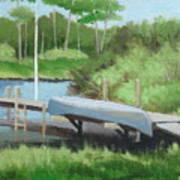 Canoe Dock Art Print