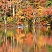 Canoe Fishing  Fall Art Print