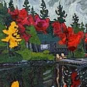 Canoe Lake Chairs Art Print by Phil Chadwick