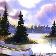 Canoe On Land Art Print