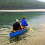 Canoeing Glacier Park Art Print