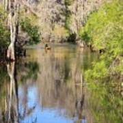 Canoing On Hillsborough River Art Print