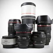 Canon Lenses Art Print