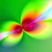 Canoodeling Neon Nodes Fractal Art Print